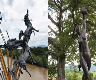 la estatua y monumento conmemorativos en honor a la cacica gaitana
